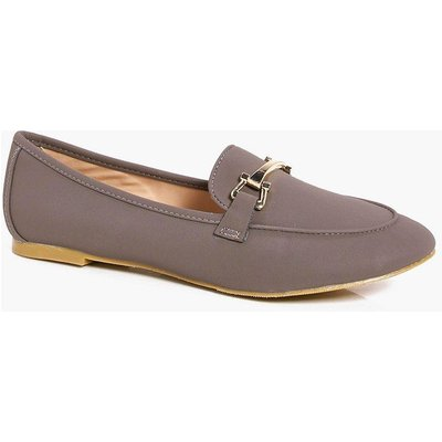 Metallic Trim Loafer - grey