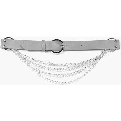 Rings & Chain Boyfriend Belt - grey