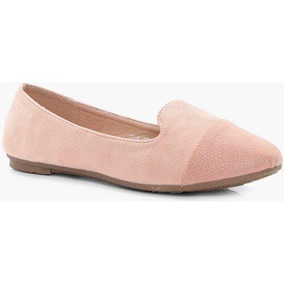 Slipper Toe Cap Ballet - stone
