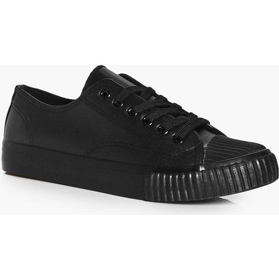 Lace Up Trainer - black