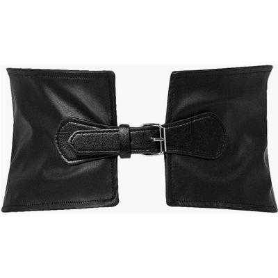 PU Buckle Waist Belt - black