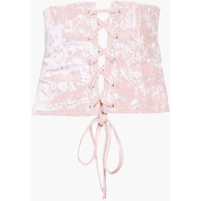 Velvet Corset Waist Belt - blush