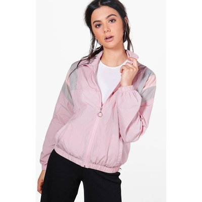 Panelled Windbreaker - pink