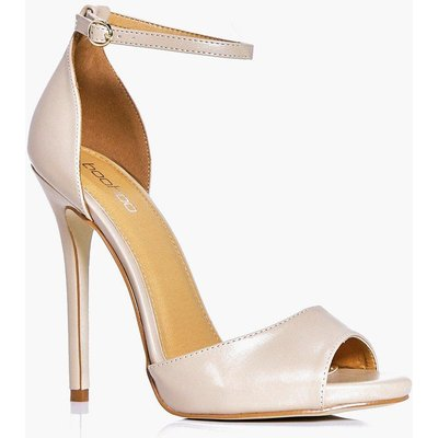 Peeptoe Two Part Heel - nude