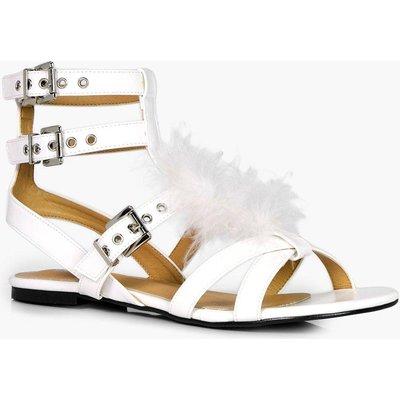 Fur Sandal - white