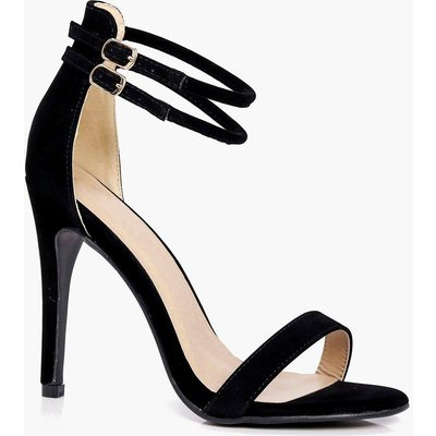Double Ankle Band 2 Part Heels - black