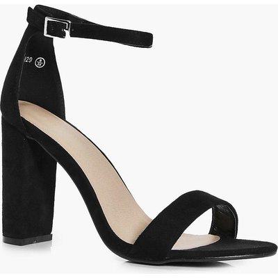 Block Heel Two Part Heels - black