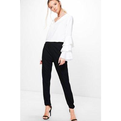 Woven Skinny Trouser - black