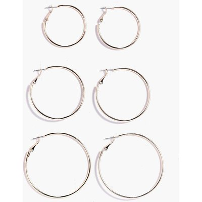 Mixed Size Hoop Earring 3 Pack - gold