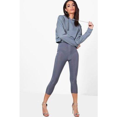 Crop & Slinky Legging Co-ord - grey