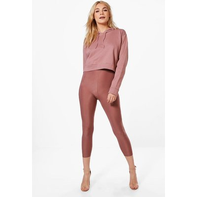 Crop & Slinky Legging Co-ord - rose