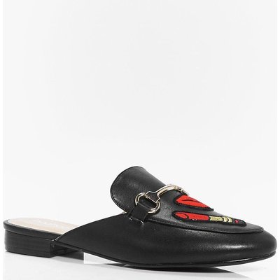Patch Up Mule Loafer - black