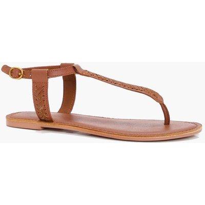 Thong Leather Sandal - tan