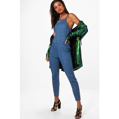Denim Festival Catsuit - mid blue