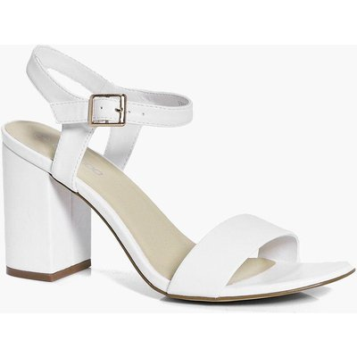 Two Part Block Heels - white