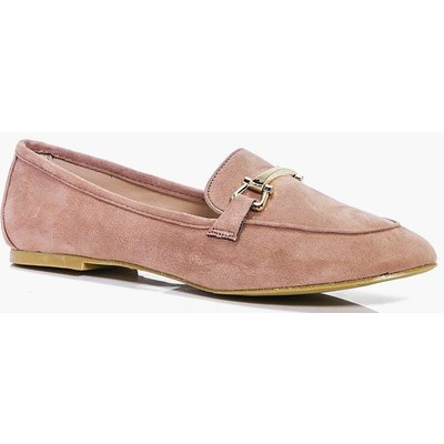 Metal Trim Loafer - blush