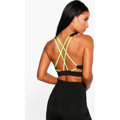 Fit Strappy Back Sports Bra - black