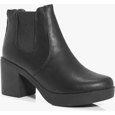 Chunky Sole Chelsea Boot - black