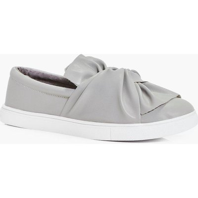 Knot Front Skater - grey