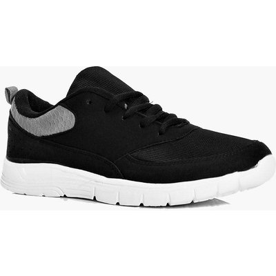 Cleated Lace Up Trainer - black