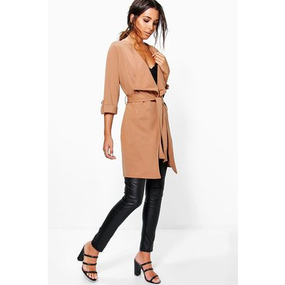 Waterfall Belted Duster - tan