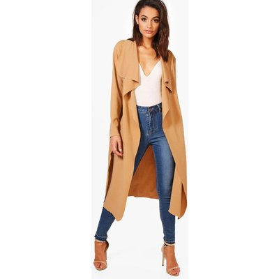 Side Split Duster - camel