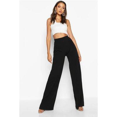 Emma Wide Leg Pleat Front Trouser - black