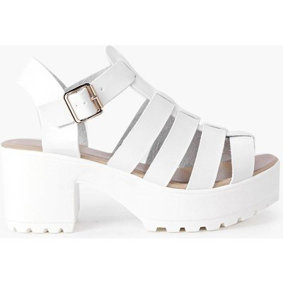 Fisherman Cleated Sandal - white