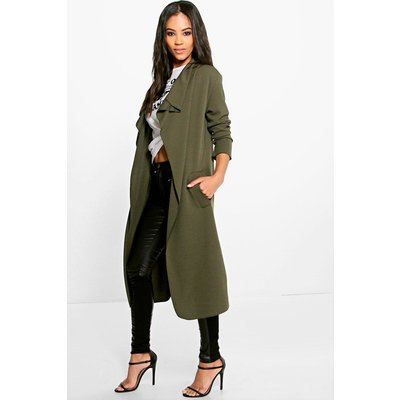 Side Split Duster - khaki