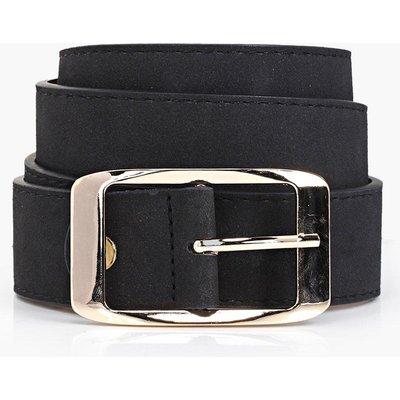 Suedette Chunky Boyfriend Belt - black