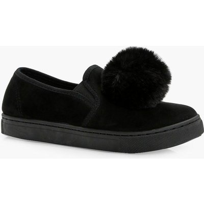Pom Pom Skater Shoe - black