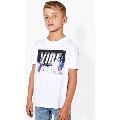 Floral Print Vibe T-Shirt - white