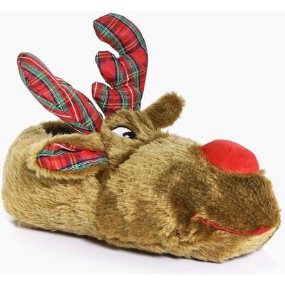 Reindeer Slippers - brown
