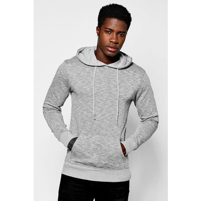 Hoodie In Space Dye - grey
