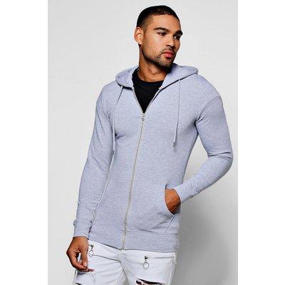 Fit Zip Through Hoodie - grey