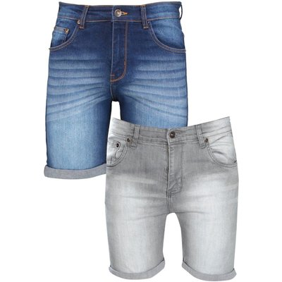 Pack Denim Shorts In Mixed Length - multi