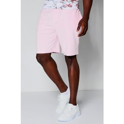 Velour Mid Length Shorts - pink