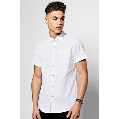 Short Sleeve Oxford Shirt - white