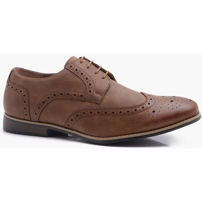 Brogues with Perforated Detailing - tan