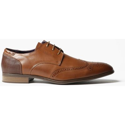 Smart Wing Tipped Brogues - tan