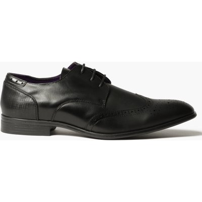 Smart Wing Tipped Brogues - black