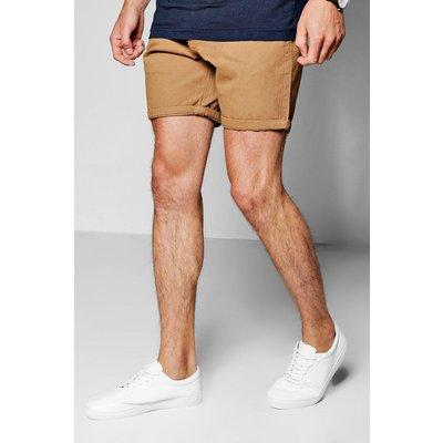 Mid Length Chino Shorts - tobacco