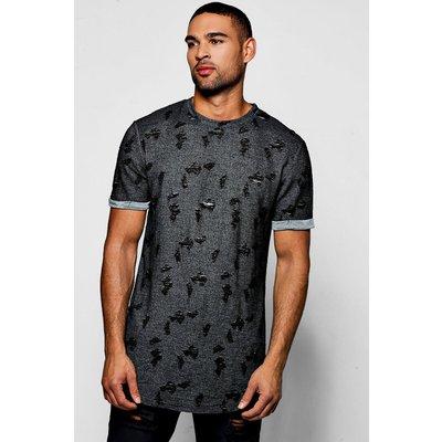 Knit Crew Neck T-Shirt - black