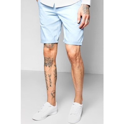 Skinny Fit Chino Short - blue