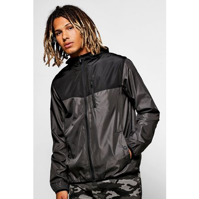 Panel Zip Through MA1 Cagoule - charcoal