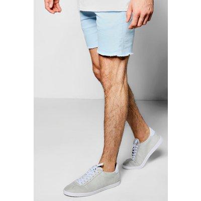 Pastel Skinny Fit Chino Shorts - blue