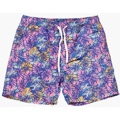 Print Swim Shorts - blue