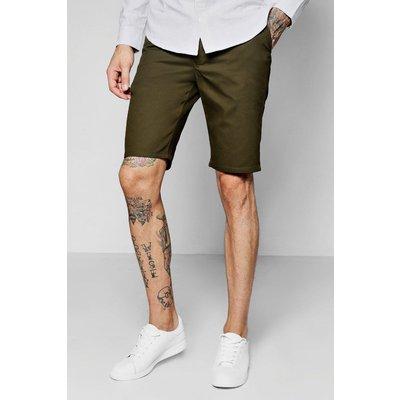 Slim Fit Chino Short - khaki