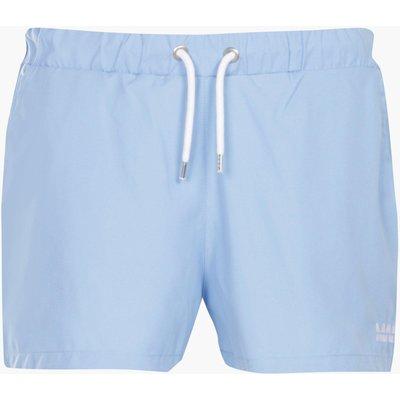 Short Swim Short With Embroidery - aqua