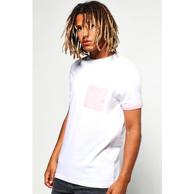 Pocket Turnt Up T-Shirt - pink